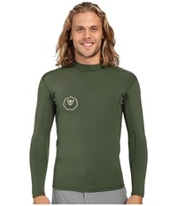 Vissla Performance Jacket Long Sleeve 2Mm Neoprene Super Stretch Army Men's Coat Green