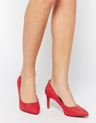 Oasis Eve Mid Heeled Court Shoes Coralpink