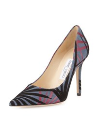 Jimmy Choo Abel Palm Pointed Toe Pump Navy