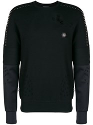 Philipp Plein Distressed Jumper Black