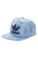 Adidas Men's Originals 'Trefoil Plus' Snapback Cap Blue Medium Blue