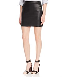 Suncoo Jupe Fitz Faux Leather Mini Skirt Noir