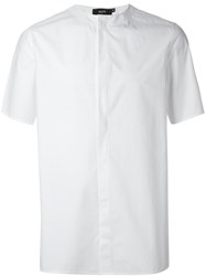 Blood Brother Collarless Shirt White
