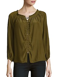 Ramy Brook Jackie Solid Roundneck Top Nomad Green