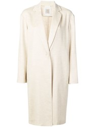 Eleventy Single Breasted Coat Neutrals