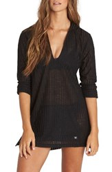 Billabong Women's Love Lost Hooded Cover Up Black Sands