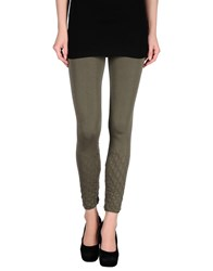 Cristina Gavioli Trousers Leggings Women Military Green
