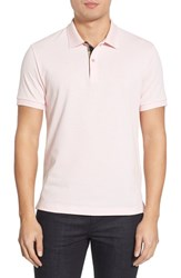 Men's Burberry Brit 'Oxford' Short Sleeve Polo City Pink