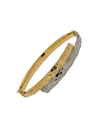 Lord And Taylor Two Tone 14K Gold Bangle Bracelet