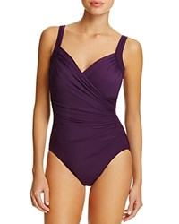 Miraclesuit Must Have Sanibel Ruched One Piece Swimsuit Plum