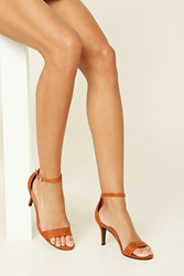 Forever 21 Strappy Faux Suede Heels