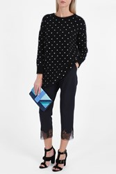 Giamba Dot Oversize Knit Black