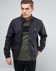 Fred Perry Brentham Harrington Jacket In Black Black