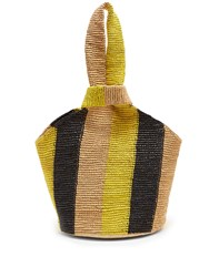 Sensi Studio Striped Toquilla Straw Tote Multi Stripe