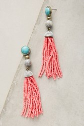 Anthropologie Atmosphere Tassel Drop Earrings Pink