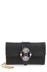 Miu Miu Madras Convertible Leather Clutch