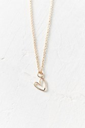 Urban Outfitters Mini Doodle Heart Charm Necklace Gold