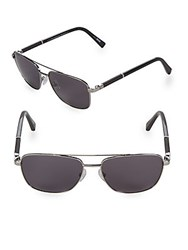 Ermenegildo Zegna 58Mm Aviator Sunglasses Silver