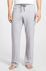 Daniel Buchler Pima Cotton And Modal Lounge Pants White Grey Stripe