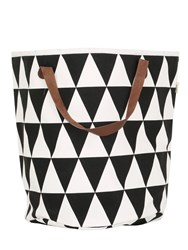 Ferm Living Triangle Hand Printed Laundry Basket
