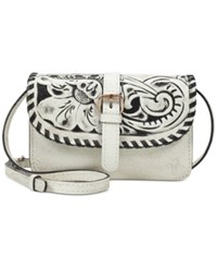 Patricia Nash Vintage White Washed Torri Mini Crossbody White Washed Black