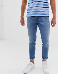 Solid Slim Fit Jean Light Wash Blue
