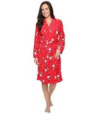 Jockey Microfleece Robe See Spot Run Women's Robe Red