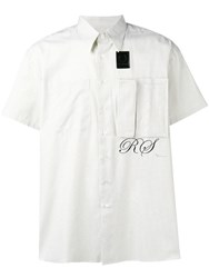 Fred Perry Raf Simons X Logo Check Short Sleeve Shirt White