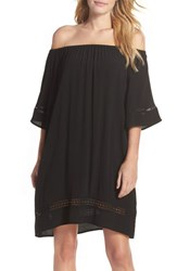 Muche Et Muchette Women's City Wide Off The Shoulder Cover Up Dress Black