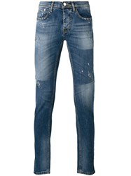 Iceberg Distressed Skinny Jeans Blue