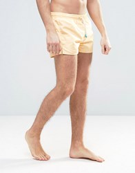 Oiler And Boiler Tuckernuck Shortie Swim Shorts In Yellow Yellow