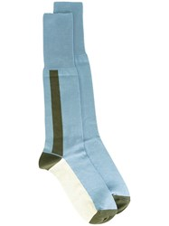 Marni Colour Block Socks Blue