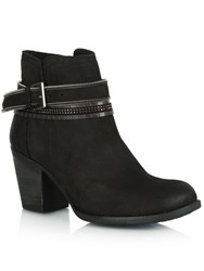 Daniel Loki Leather Embellished Ankle Boots Black