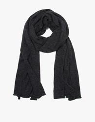 Lauren Manoogian Wide Scarf In Dark Charcoal