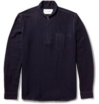 Our Legacy Half Zip Cotton Sweater Blue