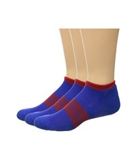 Thorlos 84 N Runner Micro Mini 3 Pack Royal Red Men's Low Cut Socks Shoes Blue
