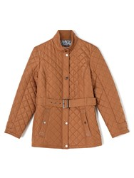 Dash Luxury Quilted Coat Brown