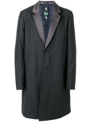 Paul Smith Ps By Single Breasted Coat Polyester Wool Xl Grey