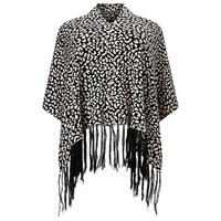Windsmoor Animal Print Poncho Navy Multi