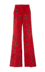 Derek Lam High Waisted Wide Leg Pant Red
