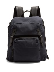 Lanvin Cotton Backpack Navy Multi