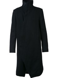 Julius Stand Collar Coat Black