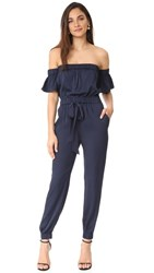 Milly Silk Maxime Jumpsuit Navy