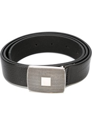 Eleventy Buckle Plaque Belt Black