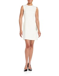 French Connection Sundea Structured Sheath Dress Daisy White