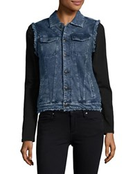 Marc New York Chambray Button Front Vest