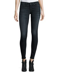 Rag And Bone Classic Skinny Jeans Black Rae Navy