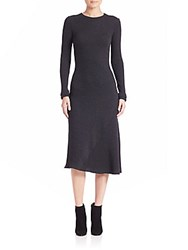 Helmut Lang Detached Cuffs Ribbed Dress Grey