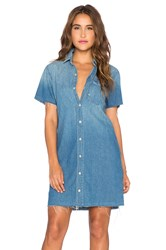 Mother Short Sleeve Frenchie Fray Dress Cut And Run