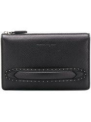 Salvatore Ferragamo Firenze Stud Clutch Black